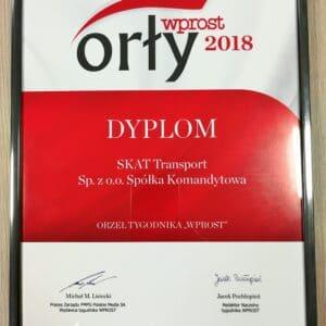 """Award """"Orly Wprost"""" for SKAT Transport"""
