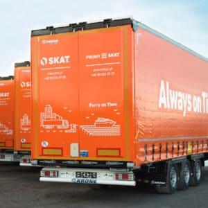 50 neue KRONE Mega Liner Huckepack-Auflieger