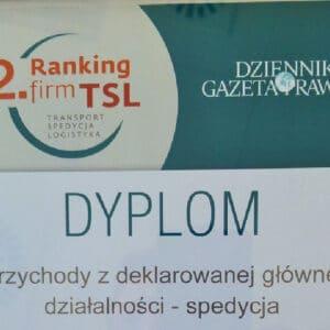 Wyróżnienie dla SKAT Transport w22 rankingu firm TSL
