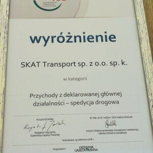 SKAT Transport as one of the largest Polish exporters